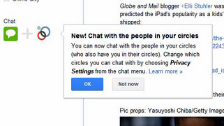 Google+ Adds Mutual Circle Chat